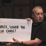 Wally Cue Card Guy